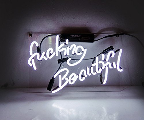 Fucking Beautiful Neon Signs for Bedroom Fashion Handcraft Real Glass Neon Light Sign 14x9!!!