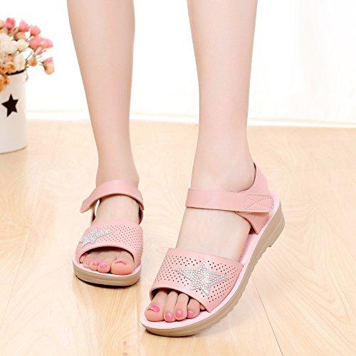 piedi principessa dei i scarpe studenti dita Pink sandali spiaggia HBDLH scarpe PIqxgwF6q