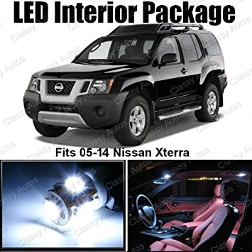 Cly Autos Nissan Xterra White Interior LED Package (8 Pieces) on