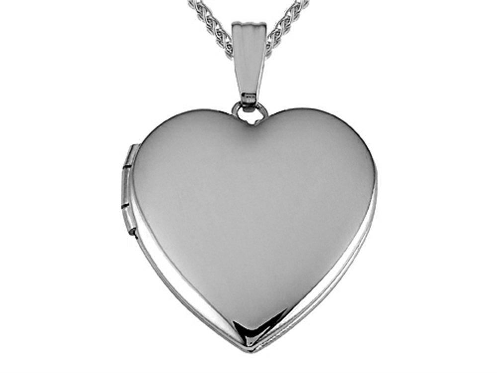 Medium Heart Locket Pendant Necklace 14kt