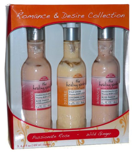 The Healing Garden Romance & Desire Lotion Collection Passionate Rose Wild Ginger