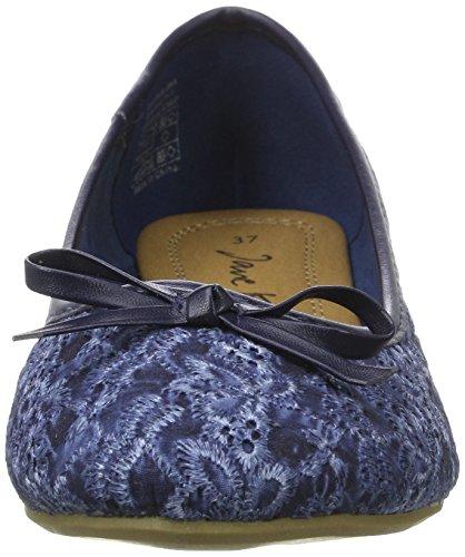 Jane Klain Damen 221 807 Geschlossene Ballerinas Blau (Navy)