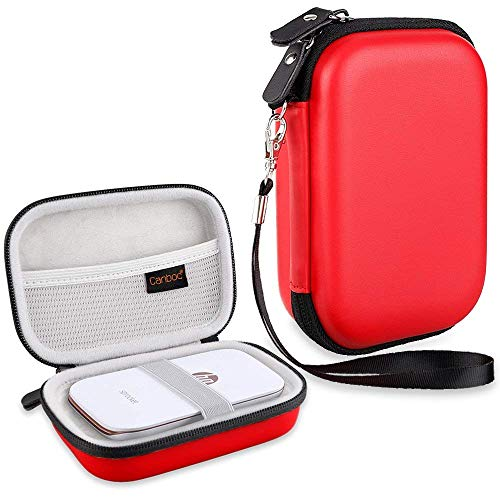 Canboc Shockproof Carrying Case Storage Travel Bag for HP Sprocket Plus/Select Instant Photo Printer, Kodak Mini 2 / Mini Shot Portable Mobile Printer Camera Protective Pouch Box, Red