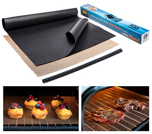 Large Non-Stick Oven Liners for Bottom - 2 Teflon Oven Liner for Electric