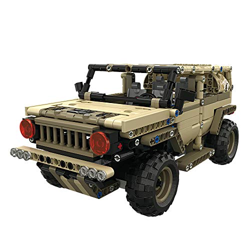 YRE 2.4G Remote Control Military Industry Hummer Fight to Insert Building Blocks, DIY Early Education Puzzle Teach Children Toys, 535PCS