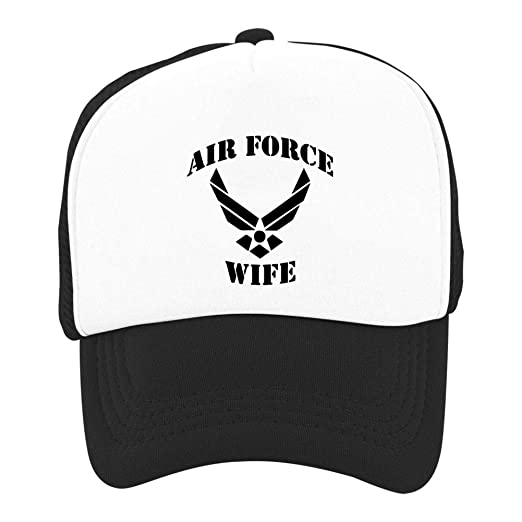 8b2e6dc18a930 Amazon.com  Kid Youth Baseball Cap Air Force Wife Decal Classic Visor Cap  Dad Hat Mesh Trucker Hat  Clothing