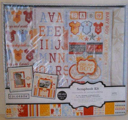Colorbok Baby Boy Scrapbooking Box Kit (Scrapbook Colorbok Kit)