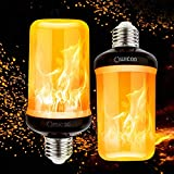 Pretigo Update LED Flame Effect Fire Light Bulbs,6W E26 Upside Down Effect Simulated,4 Mode Type Flickering Light Bulb for Home/Hotel/Party Vintage Decorative (2 Pack)
