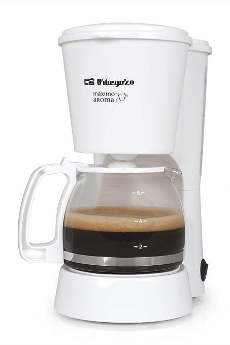 Cafetera de goteo ORBEGOZO CG4012B | ORBEGOZO 4-6 tazas