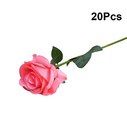 Amazon.com: Vosarea - Ramo de rosas artificiales de seda ...