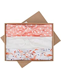 Baby Girls Headbands with Bows 3 Pack Infant Toddler...