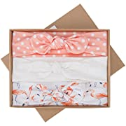Baby Girls Headbands with Bows 3 Pack Infant Toddler Headwrap Hair Accessories