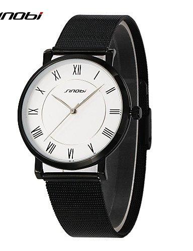 Sinobi Relojes Mujer mejores Relojes Top de marca para hombre de acero inoxidable reloj de pulsera