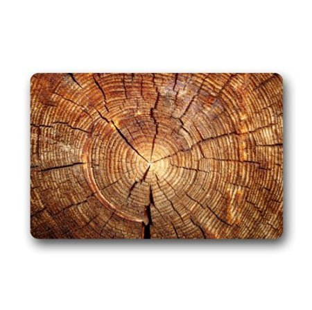 TSlook Fashions Doormat Tree Ring Wood Pattern Indoor/Outdoor/Front Welcome Door Mat(23.6