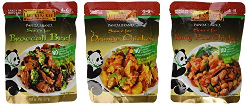 Fry Marinade Stir (Panda Brand Ready In Minutes Asian Stir Fry Sauce 3 Flavor Variety Bundle: (1) Broccoli Beef, (1) Orange Chicken, and (1) Kung Pao Chicken, 8 Oz. Ea. (3 Pouches Total))