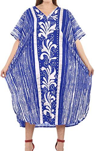 Cotton Batik Caftan Dress - 1
