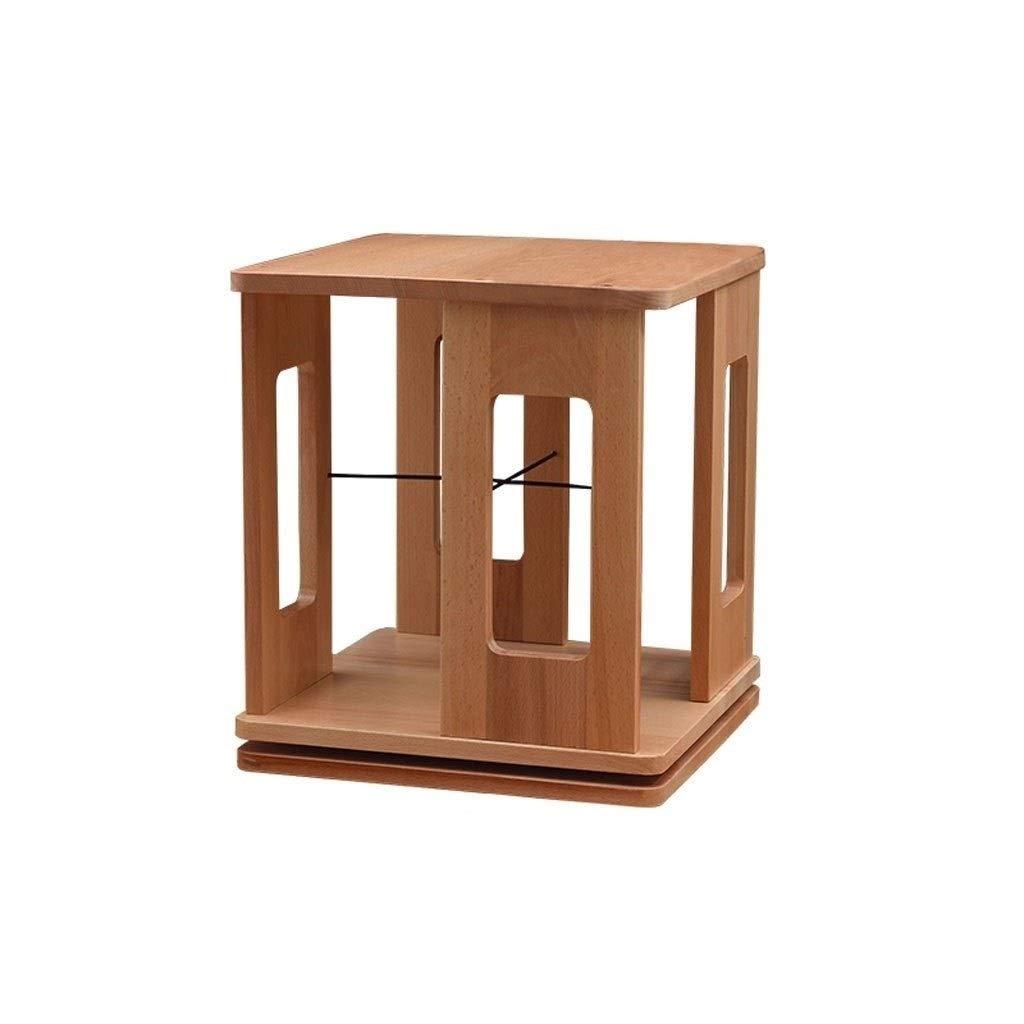 TIAN 360° Rotating Wooden Bookshelf Adjustable Vertical Bookcase Storage Cabinet Divider Unit Storage Lockers (Color : B)