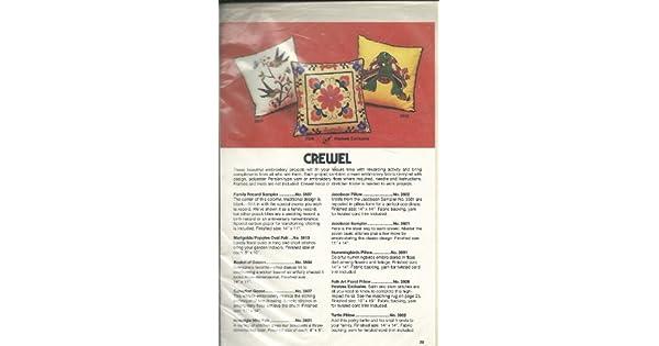 Amazon.com: Artcraft Conceptos Crewel almohada Hostess ...
