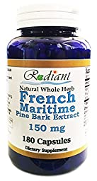 French Maritime Pine Bark Extract 150mg 180 Capsules