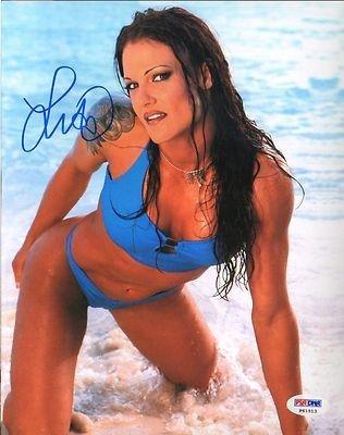 Lita Amy Dumas Signed WWE WWF Diva SEXY Bikini 8x10 Photo COA Auto'd - PSA/DNA Certified - Autographed Wrestling Photos