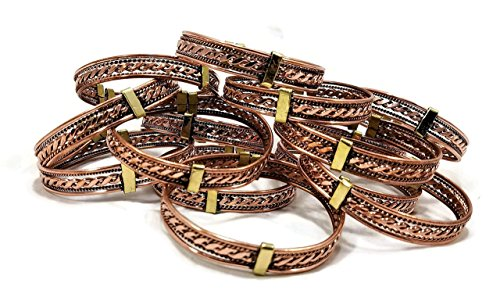Expandable Spiral (Set of 2 Copper Spiral Twisted Expandable Bracelet - One Size Fits Most)