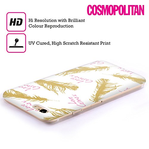Official Cosmopolitan Gold Feathers Love Cosmo Soft Gel Case for Apple iPhone 6 / 6s