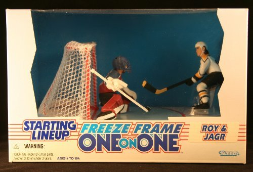 PATRICK ROY / COLORADO AVALANCHE & JAROMIR JAGR / PITTSBURGH PENGUINS 1997 NHL * Freeze Frame One-On-One * Starting Lineup Action Figure Deluxe Box Set