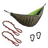 Baoblaze Lightweight Hammock Sleeping Bag Underquilt + 2 Keychain Carabiners + 2 Hammock Tree Straps 150cm