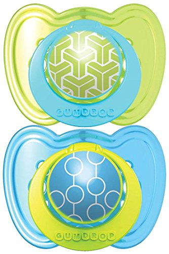 The First Years GumDrop Ortho Pacifier - Blue/Green - 6 - 18 Months