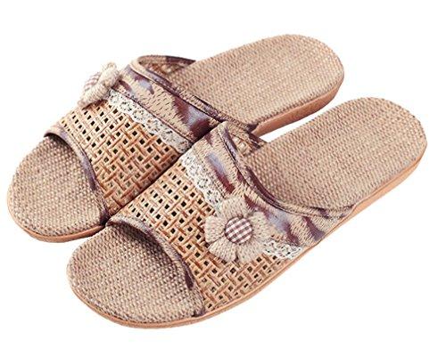 Cattior Mujeres Summer Cool Slippers Zapatillas De Interior Al Aire Libre Open Toe Camel