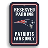 NFL New England Patriots Plastic Parking Sign