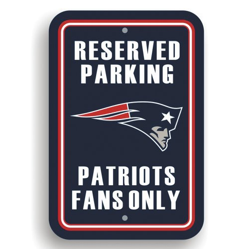 Fan Parking Sign - NFL New England Patriots Plastic Parking Sign