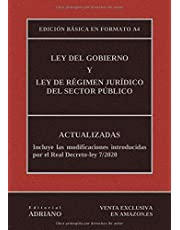 Ley del Gobierno y Ley de Régimen Jurídico del Sector Público (Edición básica en formato A4): Actualizadas, incluyendo las últimas reformas recogidas en la descripción
