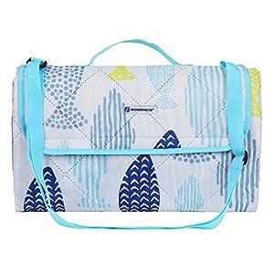 """SONGMICS Waterproof Picnic Blanket Machine Washable Beach Mat Portable Outdoor Blanket 77"""" x 59"""" UGCM80UW"""