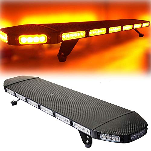 """Cozyel 41"""" 96 LED Amber Yellow Traffic Advisor Light Bar Emergency Warning Light Security Vehicle Roof Top Strobe Light Bar with Magnetic Base for Construction Truck Tow"""