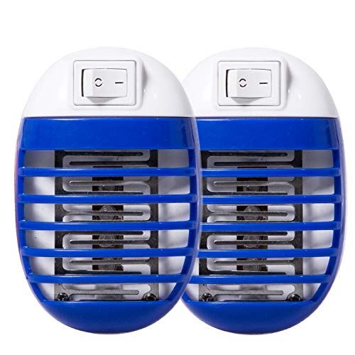 Fullsexy 2 Pack Electronic Insect Mosquito Killer Trap Bug Zapper Mosquito Killer Lamp Eliminates Flying Pests Gnat Trap with Night Light