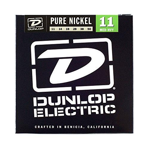 Dunlop DEK1150 Pure Nickel Medium/Heavy Electric Guitar 6-String Set, .011-.050 Gauge
