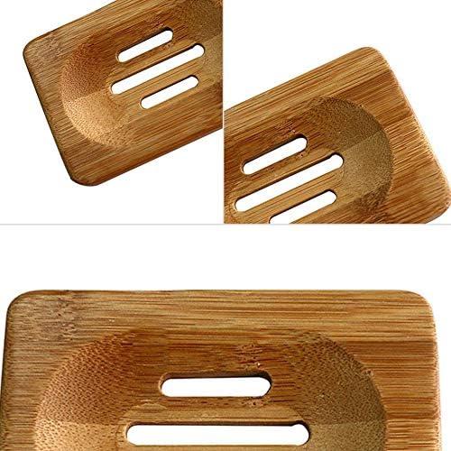 Bamboo Soap Box Storage Holder Natural Shower Soap Plate Tray Home Bathroom Supply Bamboo Soap Dish
