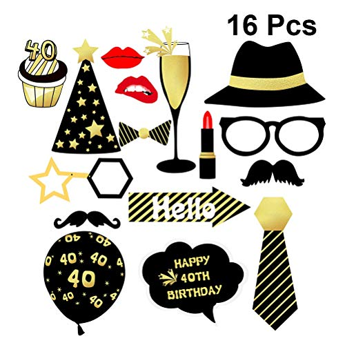 New Design 16pcs 40th Funny Birthday Party Adult Props Champagne Neck Tie Kiss, Magic Stage Magic - Lace Cloak, Sponge Dress In Fashion, New Year S Eve, Eagle Party, Fancy Dress Womens, S Roaring
