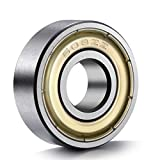 BC Precision 100Skate 608-ZZ Skateboard Bearing, 8x22x7, Shielded (Pack of 100)