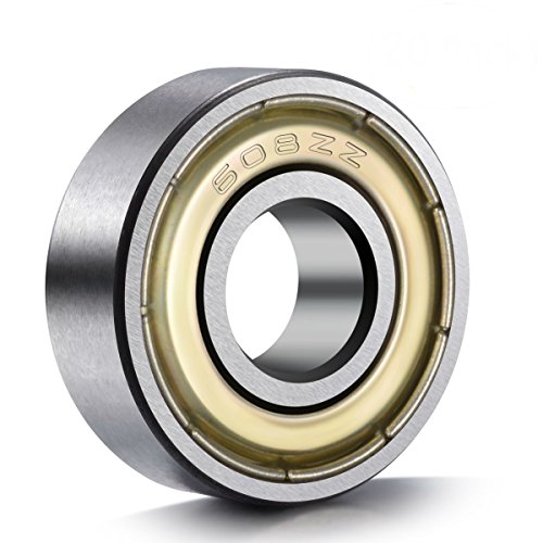 BC Precision 608-ZZ Skateboard Bearing, 8x22x7, Shielded (Pack of 100) by BC Precision