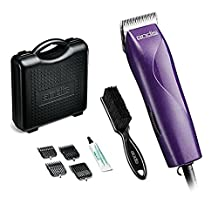 Andis EasyClip 8 Piece Dog Grooming Clipper Kit, with CeramicEdge Detachable 10 Blade, with 4 Attachment Combs, & Case, & Blade Brush Included