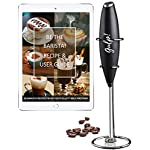 gulp Milk Frother Battery Operated Electric Foam Maker Mixer Hand Blender for Coffee with Stainless Steel Whisk and…