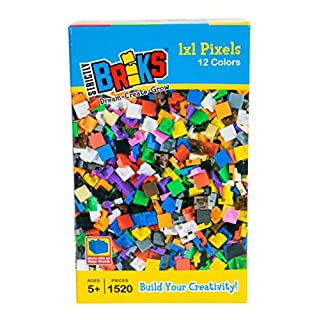 Strictly Briks Classic Bricks 1520 Pieces in 12 Colors 1x1 Pixel Building Creative Play Set - 100% Compatible with All Major Brick Brands - Arts and Crafts