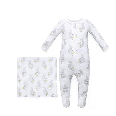 b2f6fda66 Owlivia Organic Cotton Baby Boy Girl 2 Pack Zip Front Sleep 'N Play, Footed
