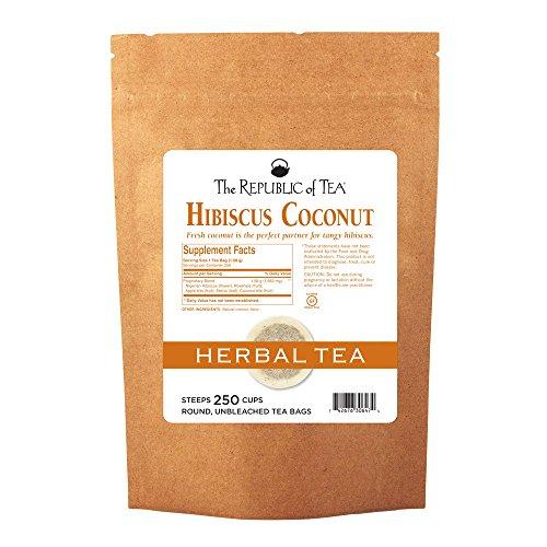 The Republic Of Tea, Hibiscus Coconut Superflower Herbal Tea, 250 Tea Bag Bulk