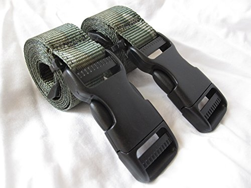 Molle Backpack Accessory Straps - Quick Release Buckle (Camouflage - Buckle Camouflage