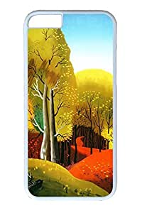 iPhone 6 Case, Personalized Unique Design Covers for iPhone 6 PC White Case - Colorful Season