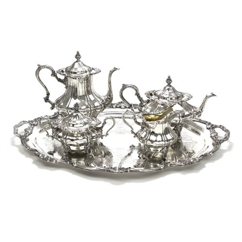 Strasbourg by Gorham, Silverplate 5-PC Tea & Coffee Service (Set Silverplate Coffee)