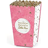 Pink Twinkle Twinkle Little Star - Baby Shower or Birthday Party Favor Popcorn Treat Boxes - Set of 12